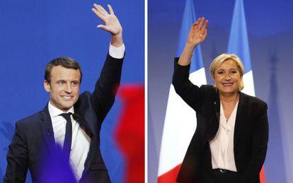 Os candidatos Emmanuel Macron e Marine Le Pen disputam segundo turno das eleições presidenciais no dia 7 de maio.