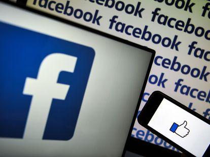 O logotipo do Facebook.