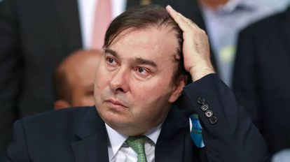 Rodrigo Maia, na convenção do DEM, em Brasília.