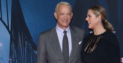 Tom Hanks, com sua esposa Rita Willson.