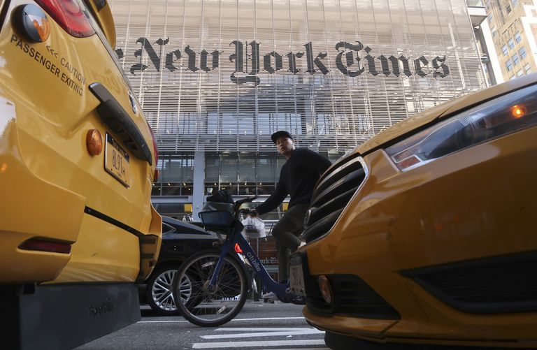 Sede do 'The New York Times', em Nova York.