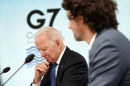 Joe Biden na cúpula do G-7 realizada neste fim de semana na Cornualha (Reino Unido).