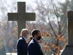 U.S. President-elect Joe Biden arrives with his family for a church service in Wilmington, Delaware, U.S., November 8, 2020. REUTERS/Jonathan Ernst