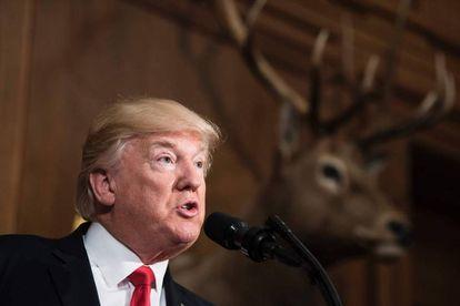 O presidente Donald Trump, nesta quarta-feira.