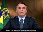 Jair Bolsonaro discursa en la 75a asemblea de na ONU, neste martes 22 septiembre 2020.