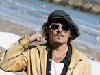 """Actor and producer Johnny Depp takes part in a photocall to promote the documentary """"Crock Of Gold: A few rounds with Shane Macgowan"""", at the San Sebastian Film Festival, in San Sebastian, Spain, September 20, 2020. REUTERS/Vincent West"""