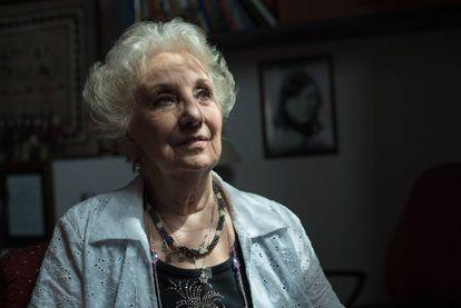 Estela de Carlotto, durante a entrevista