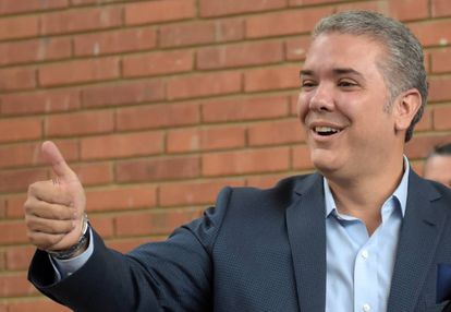 Iván Duque, o novo presidente de Colômbia.