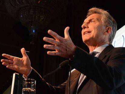 O chefe de Estado argentino, Mauricio Macri.
