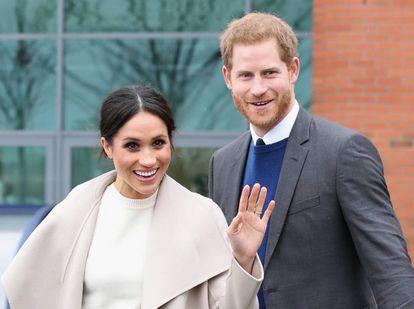 O Príncipe Harry e Meghan Markle em Belfast.