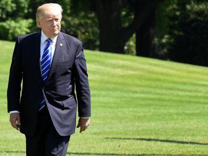 Donald Trump, na Casa Branca.