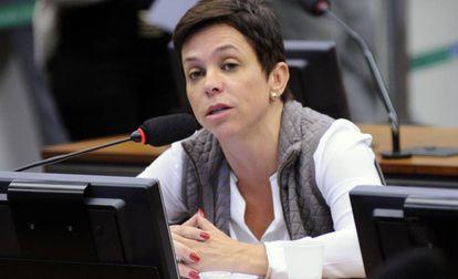 Cristiane Brasil no Congresso Nacional em maio de 2017.