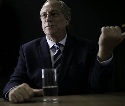 Ciro Gomes, em entrevista ao EL PAÍS, em São Paulo.