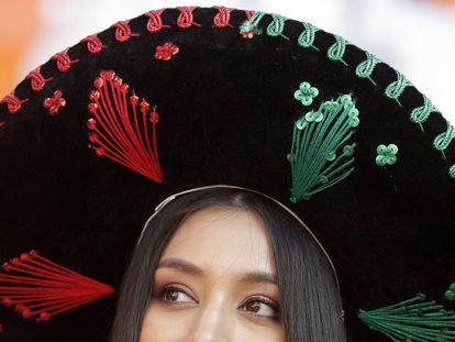 Torcedora mexicana na Copa da Rússia.