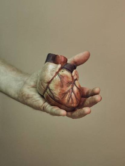 Réplica de um coração.