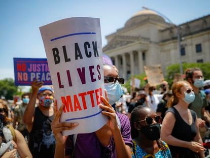 Uma das manifestações contra o racismo, em 19 de junho em Nova York.