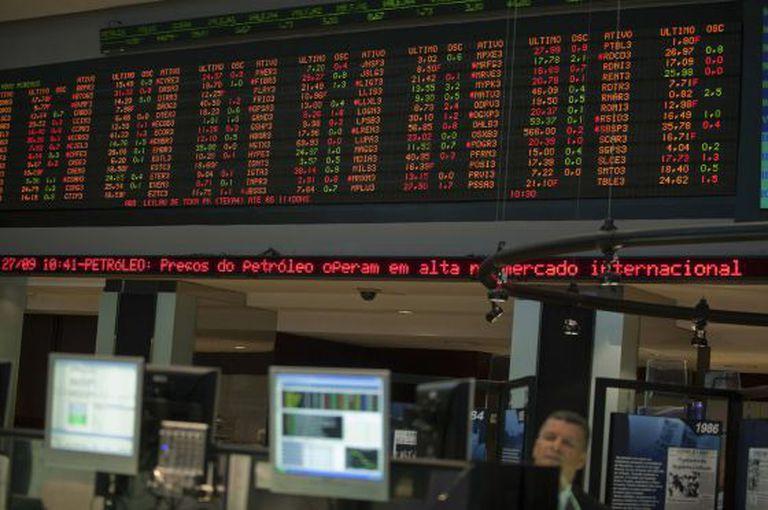 Imagem de arquivo da Bolsa de São Paulo.