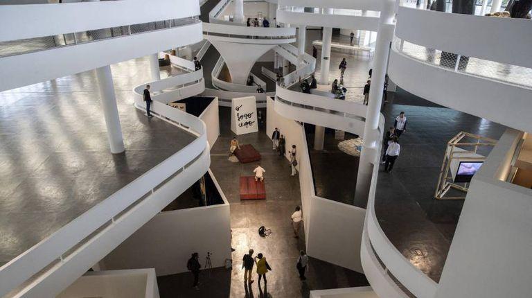 Vista geral do pavilhão da Bienal no Parque Ibirapuera, que abre as portas nesta sexta-feira