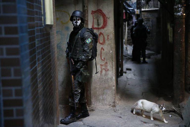Operação do Exército na Rocinha, em setembro.