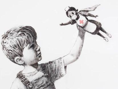 Banksy homenageia profissionais de saúde por sua luta contra o coronavírus