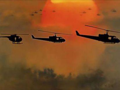Apocalypse Now  compartilha  A Cavalgada das Valquírias  e planos com uma reportagem nazista sobre aviões militares de 1944