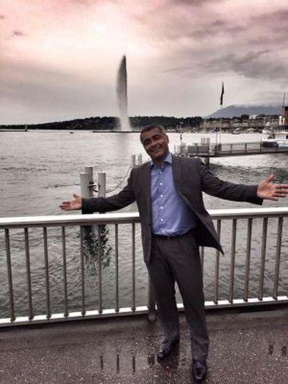 O senador Romário, na Suíça.