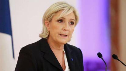 Marine Le Pen, candidata à presidência francesa pela Frente Nacional.