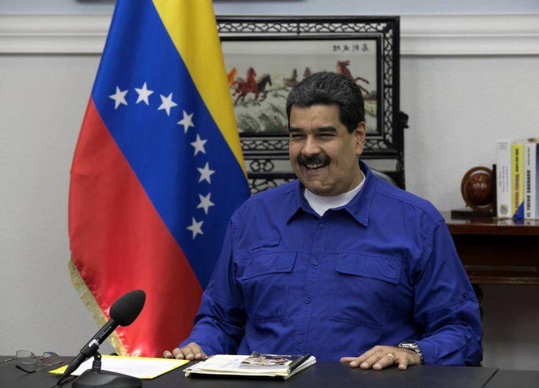Maduro, no Palácio de Miraflores em Caracas