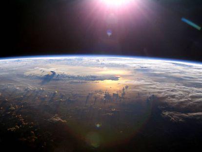 Imagem da Terra feita da Estação Espacial Internacional.