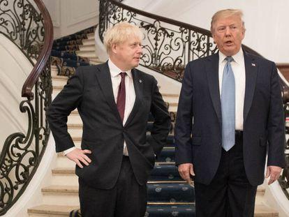 Johnson e Trump durante a cúpula do G7, em 25 de agosto.
