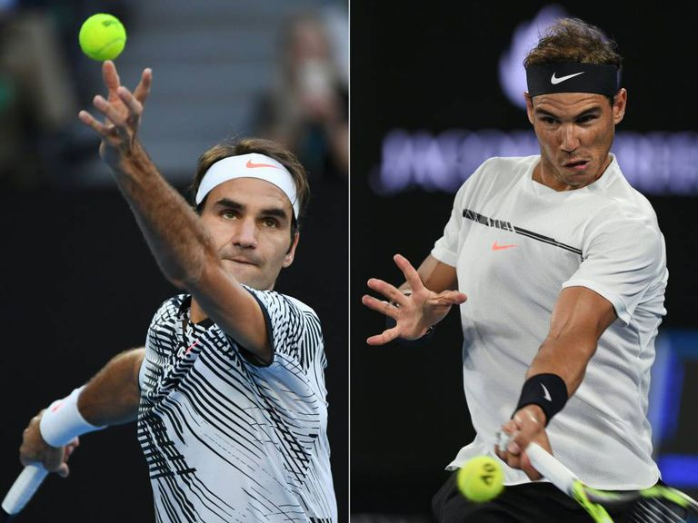 Federer e Nadal, nas partidas que os levaram à final do Open da Austrália.
