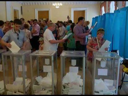 Poroshenko vence as eleições presidenciais na Ucrânia