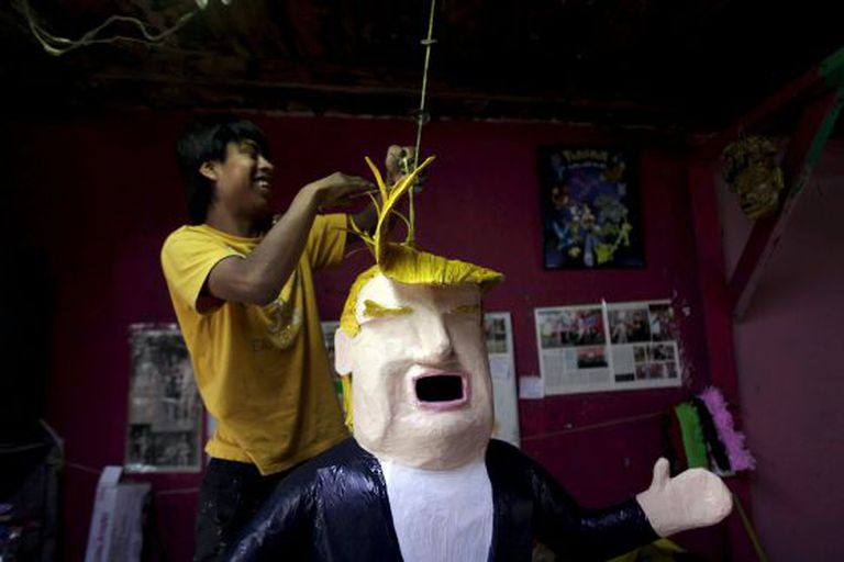Boneco de Donald Trump, em Reynosa, México.