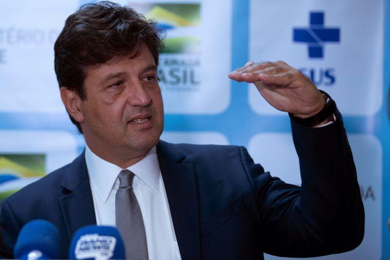 Ministro da Saúde, Luiz Henrique Mandetta, em coletiva em Brasília no início da semana.