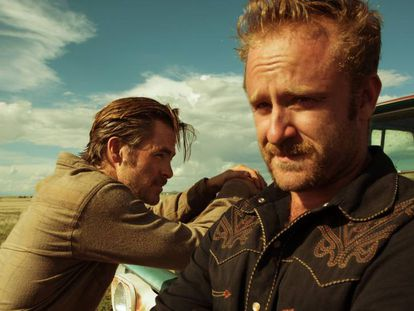 Chris Pine e Ben Foster em 'A qualquer custo'.