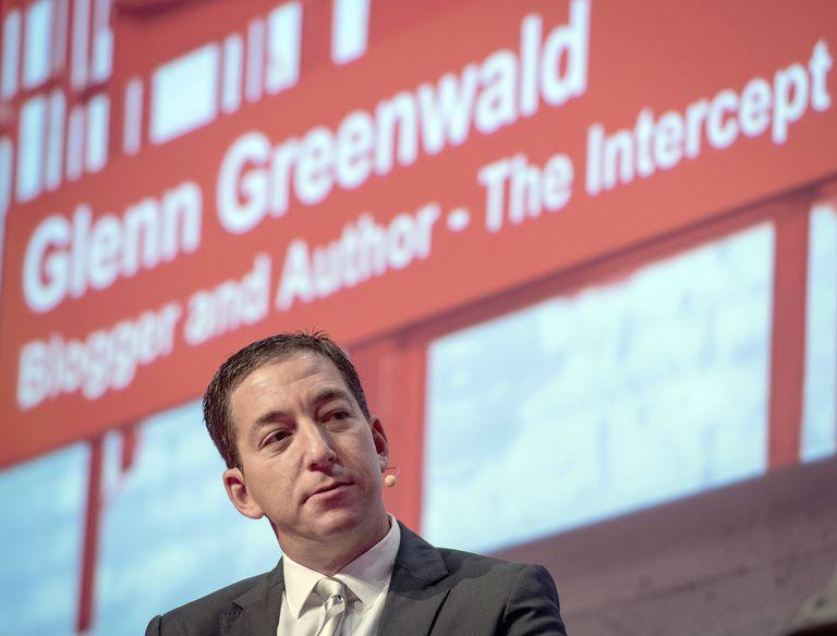 O jornalista Gleen Greenwald, em um evento na Alemanha em março de 2015. Ex-ministros comentam denúncia do MP brasileiro contra o fundador do The Intercept.