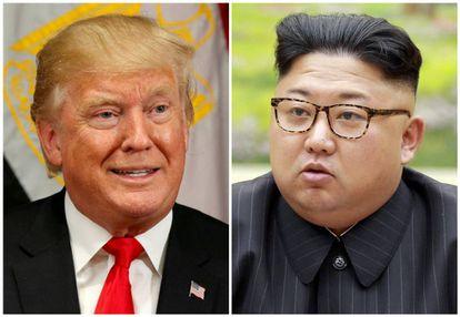 O presidente dos EUA, Donald Trump, e o Líder Supremo norte-coreano Kim Jong-un.