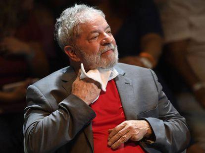 Lula em ato no Rio, no último dia 2.