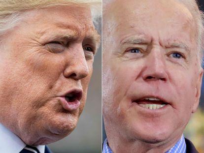 Donald Trump e Joe Biden.