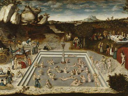 'A fonte da eterna juventude', pintura de Lucas Cranach, o Velho.