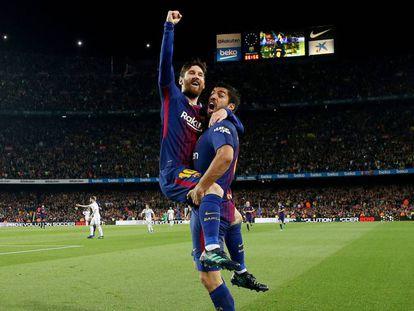 Messi marcou o segundo gol do Barcelona no clássico.