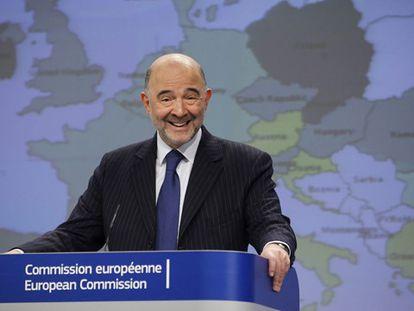 O comissário Pierre Moscovici, nesta terça-feira em Bruxelas.