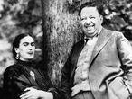 Frida Kahlo y Diego Rivera en 1937