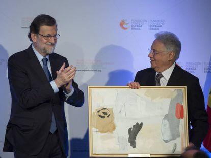 Expresidente Fernando Henrique Cardoso, primeiro ministro espanhol Mariano Rajoy