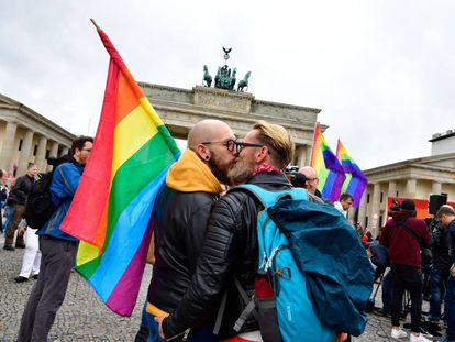 Manifestação do Orgulho gay em Berlim.