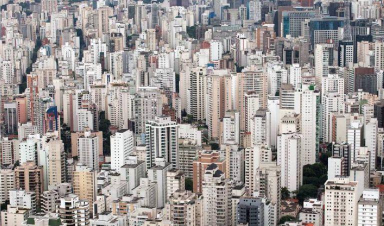 Vista aérea da cidade de São Paulo.