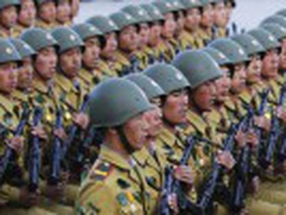 Líder da Coreia do Norte envia mensagem dura na comemoração do 70º aniversário da fundação do partido único em Pyongyang