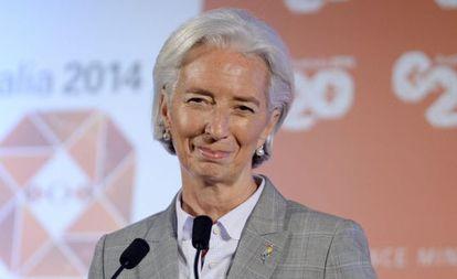 A diretora do Fundo Monetário Internacional (FMI), Christine Lagarde, ontem em Sydney.