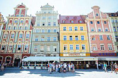 A cidade de Breslávia, na Polônia.