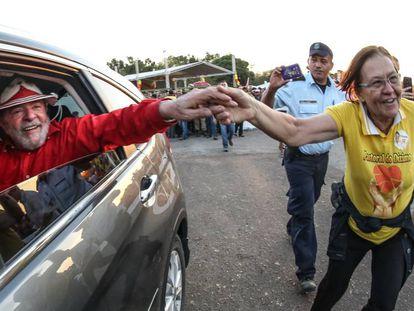 Lula durante comício na tarde desta quarta-feira na cidade de Iguatu (Ceará).